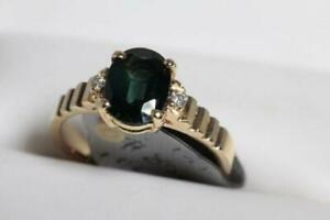 NEW 14K. ITALIAN GOLD & SAPPHIRE- DIAMOND LADYS RING FOR SALE
