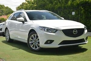 2013 Mazda 6 GJ1031 Sport SKYACTIV-Drive White 6 Speed Sports Automatic Wagon Paradise Campbelltown Area Preview