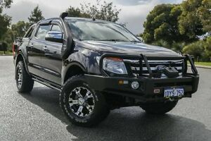 2012 Ford Ranger PX XLT 3.2 (4x4) Black 6 Speed Automatic Dual Cab Utility Hillman Rockingham Area Preview