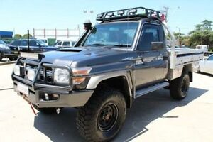 2012 Toyota Landcruiser VDJ79R MY12 Update GXL (4x4) Grey 5 Speed Manual Cab Chassis Lansvale Liverpool Area Preview