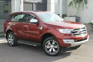 2015 Ford Everest UA Titanium Red 6 Speed Sports Automatic Wagon Wolli Creek Rockdale Area Preview