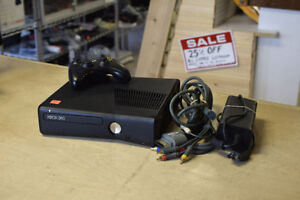 Xbox 360 SLIM250gb with all Necessary Cords and one Controller**