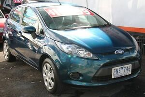 2012 Ford Fiesta WT CL Dark Emerald Green 5 Speed Manual Hatchback Briar Hill Banyule Area Preview