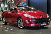 2009 Peugeot 308 T7 CC Red 4 Speed Sports Automatic Convertible Perth Perth City Area Preview