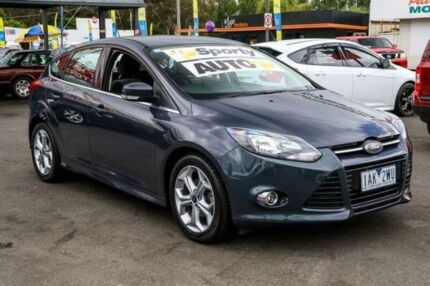 2014 Ford Focus LW MKII MY14 Sport PwrShift Lunar Sky 6 Speed Sports Automatic Dual Clutch Hatchback Ringwood East Maroondah Area Preview