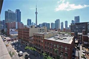 King West Boutique Loft Condo 2 bed Furnished w Amazing Views
