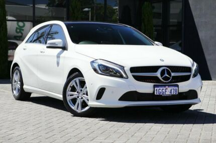 2017 Mercedes-Benz A180 W176 808+058MY D-CT White 7 Speed Sports Automatic Dual Clutch Hatchback
