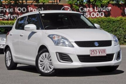 2015 Suzuki Swift FZ MY15 GL Snow White 4 Speed Automatic Hatchback