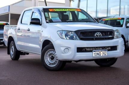 2010 Toyota Hilux GGN15R MY10 SR 4x2 White 5 Speed Automatic Utility Wangara Wanneroo Area Preview