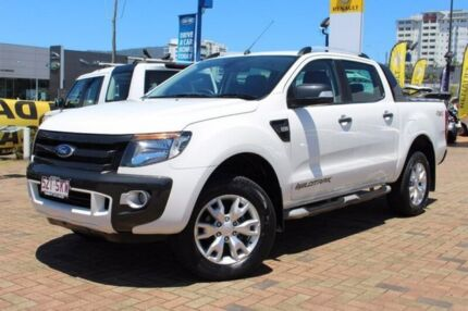 2012 Ford Ranger PX Wildtrak Double Cab White 6 Speed Sports Automatic Utility