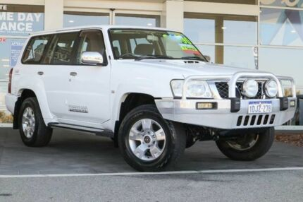 2010 Nissan Patrol GU 7 MY10 ST White 4 Speed Automatic Wagon Clarkson Wanneroo Area Preview