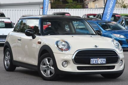 2015 Mini Hatch F56 Cooper White 6 Speed Manual Hatchback Maylands Bayswater Area Preview