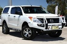 2014 Mazda BT-50 UP0YF1 XT 4x2 Hi-Rider White 6 Speed Sports Automatic Utility Penrith Penrith Area Preview