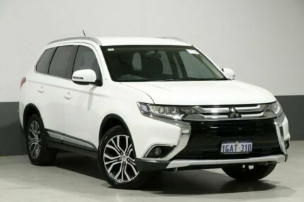 2016 Mitsubishi Outlander ZK MY16 LS (4x2) White Continuous Variable Wagon Bentley Canning Area Preview