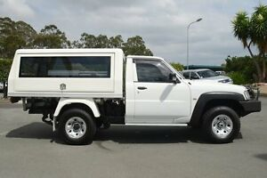 2011 Nissan Patrol GU 6 MY10 DX Polar White 5 Speed Manual Cab Chassis Acacia Ridge Brisbane South West Preview