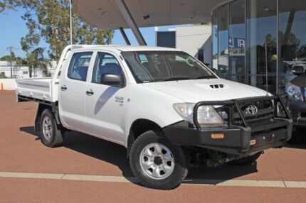 2011 Toyota Hilux KUN26R MY10 SR Super White 5 Speed Manual Cab Chassis