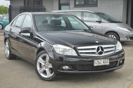 2010 Mercedes-Benz C200 CGI W204 MY10 Classic Black 5 Speed Sports Automatic Sedan Hillcrest Port Adelaide Area Preview