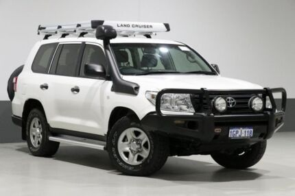 2014 Toyota Landcruiser VDJ200R MY13 GX (4x4) White 6 Speed Automatic Wagon Bentley Canning Area Preview