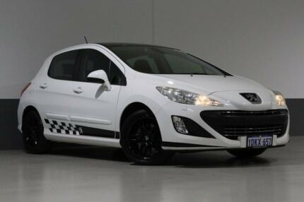 2010 Peugeot 308 Sportium White 6 Speed Automatic Hatchback St James Victoria Park Area Preview