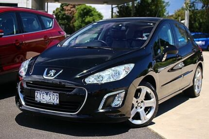 2012 Peugeot 308 T7 MY12 Access Black 4 Speed Sports Automatic Hatchback
