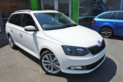 2017 Skoda Fabia NJ MY18 81TSI DSG White 7 Speed Sports Automatic Dual Clutch Wagon