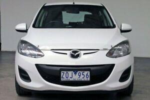 2013 Mazda 2 DE10Y2 MY13 Neo White 4 Speed Automatic Hatchback
