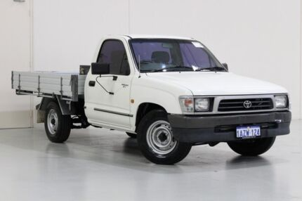 2001 Toyota Hilux RZN149R White 5 Speed Manual Cab Chassis