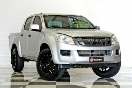 2013 Isuzu D-MAX TF MY12 SX HI-Ride (4x2) Silver 5 Speed Automatic Crew Cab Utility Burleigh Heads Gold Coast South Preview
