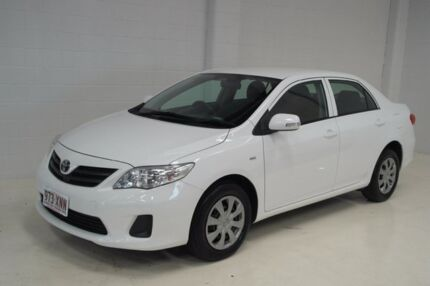 2012 Toyota Corolla ZRE152R MY11 Ascent White 4 Speed Automatic Sedan