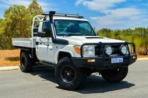 2011 Toyota Landcruiser VDJ79R 09 Upgrade Workmate (4x4) White 5 Speed Manual Cab Chassis Greenfields Mandurah Area Preview