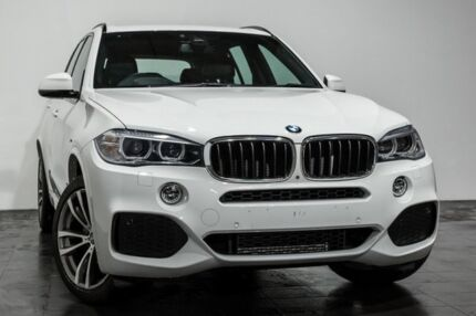 2014 BMW X5 F15 xDrive30d White 8 Speed Sports Automatic Wagon