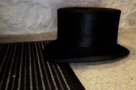 vintage top hat and box