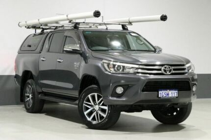 2016 Toyota Hilux GUN126R SR5 (4x4) Grey 6 Speed Manual Dual Cab Utility Bentley Canning Area Preview