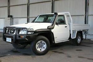 2007 Nissan Patrol GU 6 MY08 ST White 5 Speed Manual Cab Chassis Invermay Launceston Area Preview