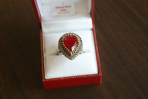 Ruby Ring, Antique setting, 75%off