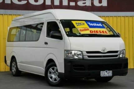 2008 Toyota Hiace KDH223R MY08 Commuter High Roof Super LWB French Vanilla 4 Speed Automatic Bus Upper Ferntree Gully Knox Area Preview