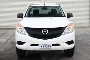 2013 Mazda BT-50 UP0YF1 XT White 6 Speed Manual Cab Chassis Seaford Frankston Area Preview