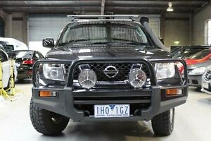 2011 Nissan Navara D40 ST Black Manual Utility Knoxfield Knox Area Preview