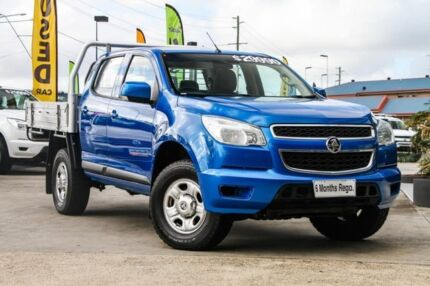2015 Holden Colorado RG MY15 LS Crew Cab Oceanic Blue 6 Speed Manual Cab Chassis Hillcrest Logan Area Preview