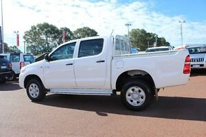 2013 Toyota Hilux KUN26R MY12 SR Double Cab White 5 Speed Manual Utility Balcatta Stirling Area Preview