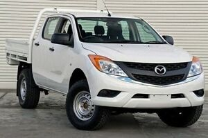 2011 Mazda BT-50 UP0YF1 XT White 6 Speed Manual Cab Chassis Seaford Frankston Area Preview