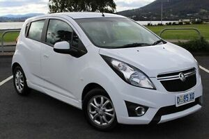 2014 Holden Barina Spark MJ MY15 CD White 4 Speed Automatic Hatchback Derwent Park Glenorchy Area Preview