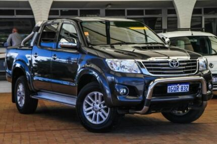 2014 Toyota Hilux KUN26R MY14 SR5 Double Cab Grey 5 Speed Automatic Utility Melville Melville Area Preview