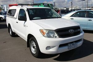 2007 Toyota Hilux GGN15R MY07 SR White 5 Speed Manual Cab Chassis Heatherton Kingston Area Preview
