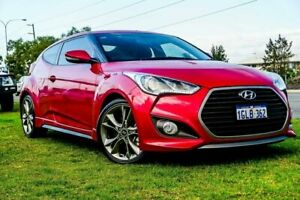 2017 Hyundai Veloster FS5 Series II SR Coupe D-CT Turbo Red 7 Speed Sports Automatic Dual Clutch Wangara Wanneroo Area Preview