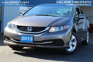 2013 Honda Civic Sdn LX-ACCIDENT FREE+ONE OWNER+EXTENDED WARRANT