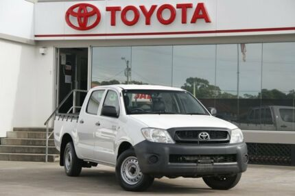 2010 Toyota Hilux TGN16R 09 Upgrade Workmate White 4 Speed Automatic Dual Cab Pick-up Old Guildford Fairfield Area Preview