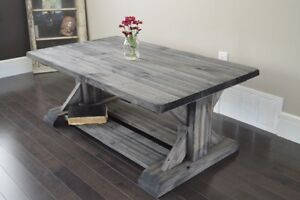 Brand New Trestle Style Coffee Table