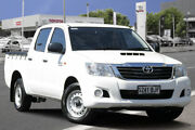 2015 Toyota Hilux KUN16R MY14 SR Double Cab 4x2 Glacier White 5 Speed Manual Utility Adelaide CBD Adelaide City Preview