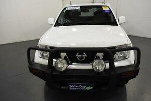 2012 Nissan Navara D40 MY12 RX (4x4) White 6 Speed Manual Kingcab Moorabbin Kingston Area Preview